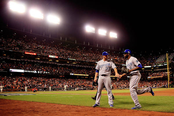 San Francisco Art Print featuring the photograph James Shields And Lorenzo Cain by Rob Carr