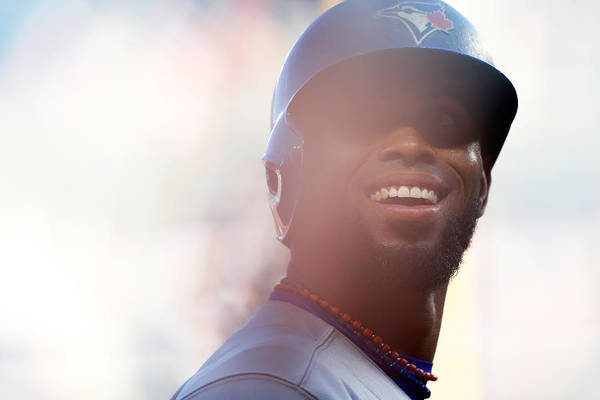 American League Baseball Art Print featuring the photograph Jose Reyes by Mike Stobe