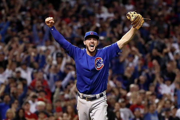 Three Quarter Length Art Print featuring the photograph Kris Bryant by Ezra Shaw