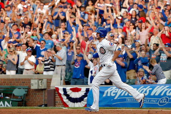 Second Inning Art Print featuring the photograph Kris Bryant by Jon Durr