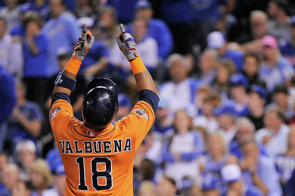 Second Inning Art Print featuring the photograph Luis Valbuena by Ed Zurga