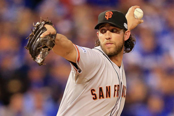 People Art Print featuring the photograph Madison Bumgarner by Jamie Squire