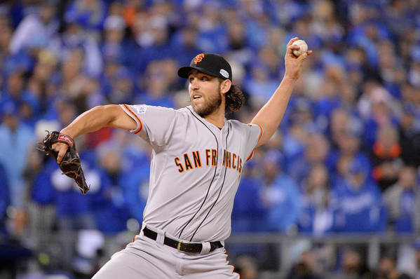 Playoffs Art Print featuring the photograph Madison Bumgarner by Ron Vesely