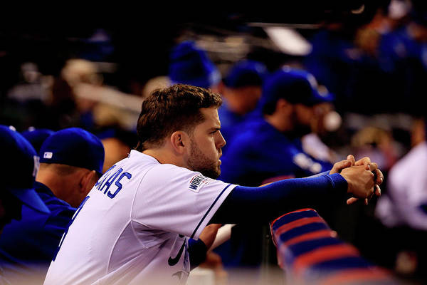 People Art Print featuring the photograph Mike Moustakas by Rob Carr