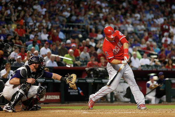 People Art Print featuring the photograph Mike Trout by Christian Petersen