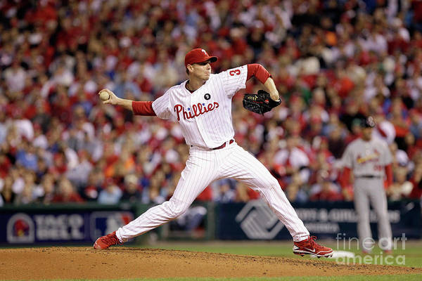 Citizens Bank Park Art Print featuring the photograph Roy Halladay by Rob Carr