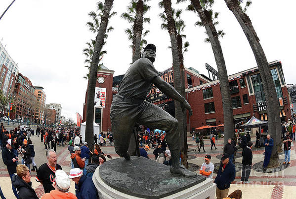 San Francisco Art Print featuring the photograph Willie Mays by Thearon W. Henderson
