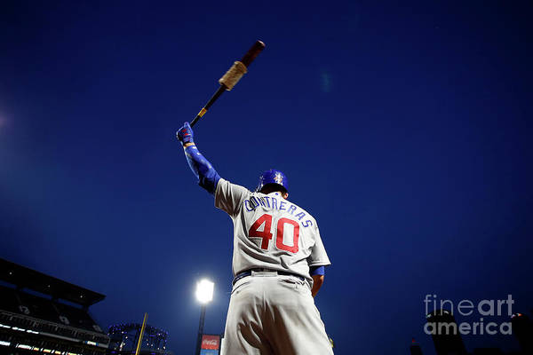 Three Quarter Length Art Print featuring the photograph Willson Contreras by Justin K. Aller
