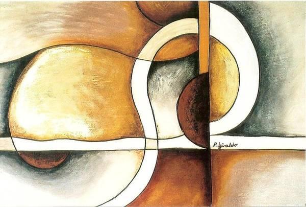 Contemporary Abstract Art Print featuring the painting Camino Encontrado by Marta Giraldo