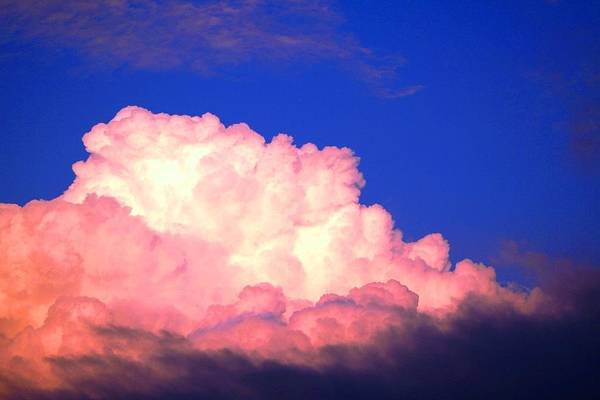 Clouds Art Print featuring the photograph Clouds In Mystical Sky by Lisa Johnston