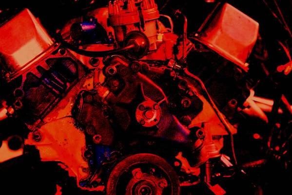 Engine Art Print featuring the digital art Engine 2 by Lisa Johnston