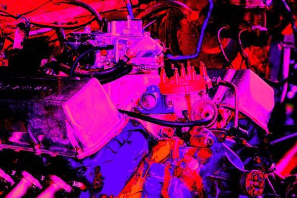 Engine Art Print featuring the digital art Engine by Lisa Johnston