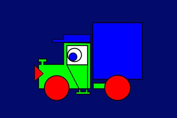 Joe The Truck Art Print featuring the digital art Joe The Truck by Asbjorn Lonvig