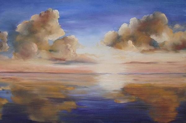 Landscape Art Print featuring the painting Sunrise On The Rio Grande by Maxine Ouellet