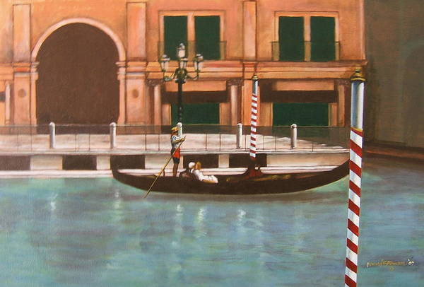 Smooth Sailing Art Print featuring the painting Venetian Number Two by Howard Stroman