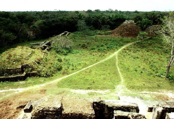 Archaeological; Altun Ha; Belize; Mayan; Travel; Still Lifes. Art Print featuring the photograph Altun Ha - Wide View by Robert Rodvik