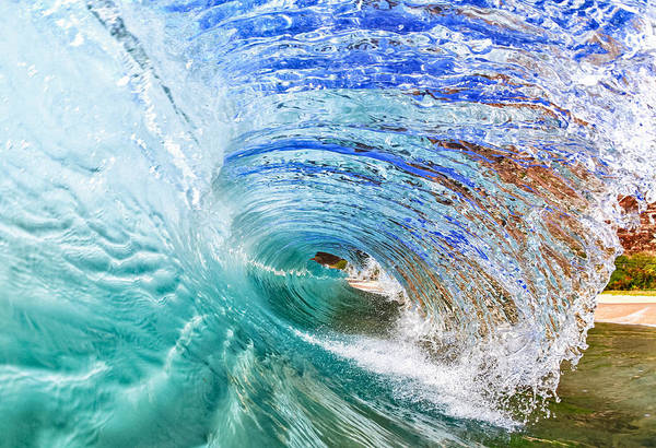 Surf Art Print featuring the photograph Backwash Flare by Gregg Daniels