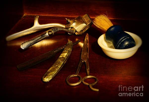 Barber - Things In A Barber Shop Art Print featuring the photograph Barber - Things In A Barber Shop by Paul Ward