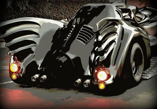 Batmobile Art Print featuring the photograph Batmobile 2 by Cathy Smith