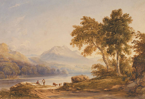 Ben Art Print featuring the painting Ben Vorlich And Loch Lomond by Anthony Vandyke Copley Fielding
