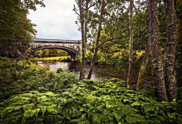Landscape Art Print featuring the photograph Bridge At Iveraray Castle by Marcia Colelli