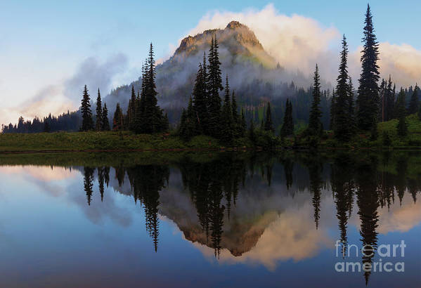 Yakima Peak Art Print featuring the photograph Cascade Mirror by Mike Dawson