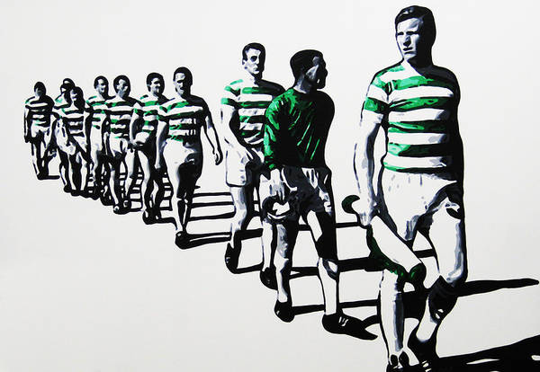 Celtic Art Print featuring the painting Celtic Fc by Geo Thomson