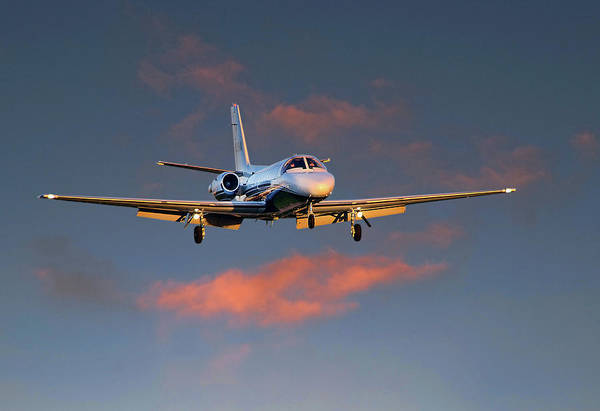 James David Phenicie Art Print featuring the photograph Cessna Citation by James David Phenicie