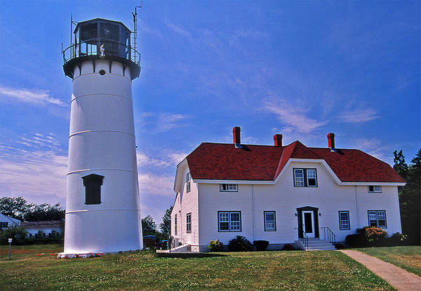 Lighthouses Print featuring the photograph Chatham Light by Skip Willits