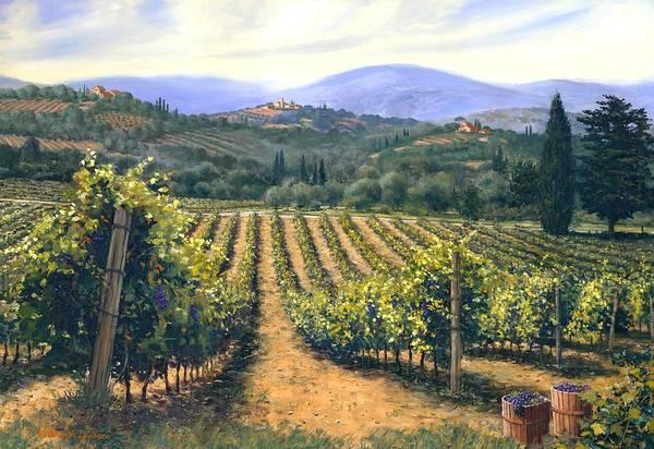Chianti Vines Art Print featuring the painting Chianti Vines by Michael Swanson