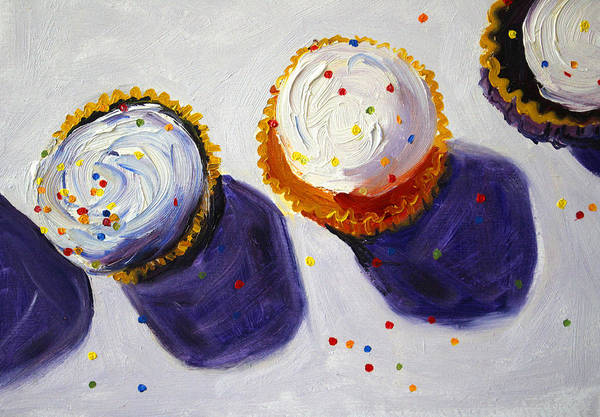 Cupcake Painting Art Print featuring the painting Cupcake Convention by Nancy Merkle