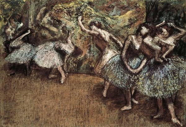 Horizontal Print featuring the photograph Degas, Edgar 1834-1917. Ballet Scene by Everett