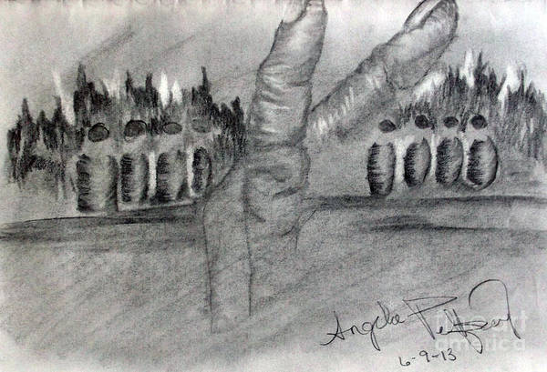 Hands Art Print featuring the drawing Follow by Angela Pelfrey