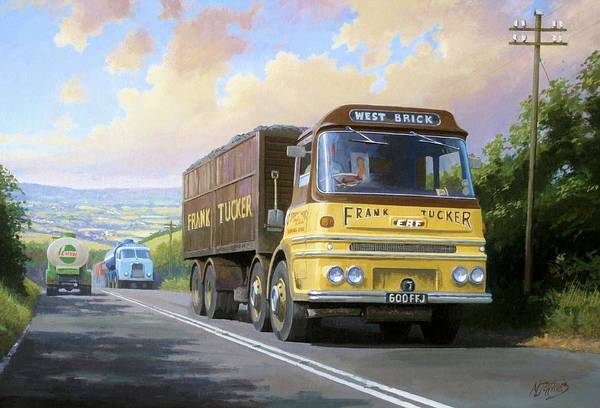United Kingdom Art Print featuring the painting Frank Tucker's Erf. by Mike Jeffries