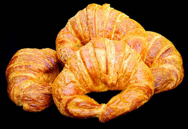 Bake Art Print featuring the photograph Fresh Croissants by David Kay