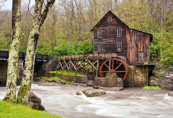 Grist Mill Art Print featuring the photograph Glade Creek by Marcia Colelli
