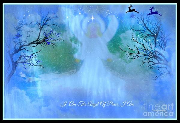 Angel Art Print featuring the digital art I Am The Angel Of Peace I Am by Sherri's Of Palm Springs