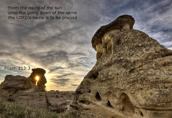 Stone Art Print featuring the photograph Inspirational Hoodoo Badlands Alberta Canada by Mark Duffy
