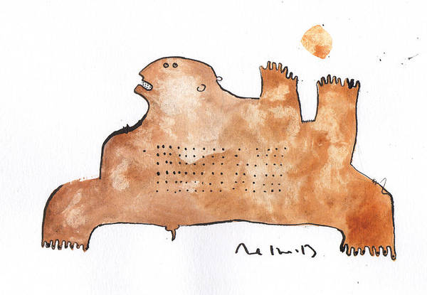 Watercolor Art Print featuring the painting Instar No.2 by Mark M Mellon