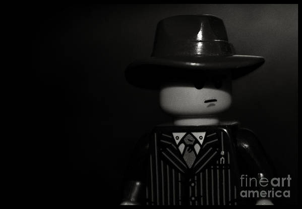Film Noir Art Print featuring the photograph Lego Film Noir II by Cinema Photography