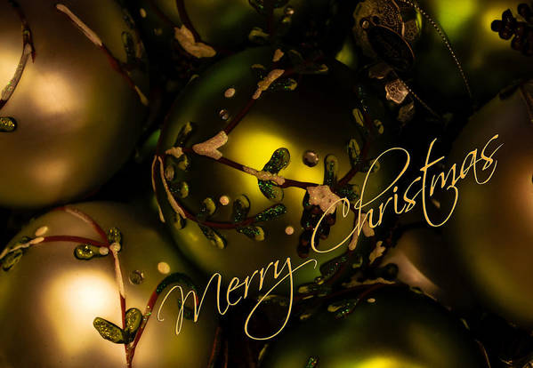 Season Art Print featuring the photograph Merry Christmas Greeting by Julie Palencia