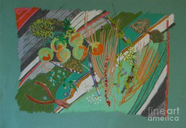 Still Life Art Print featuring the painting Methow Valley Porch by Judith Van Praag