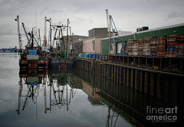 New Bedford Print featuring the photograph New Bedford Waterfront No. 4 by David Gordon