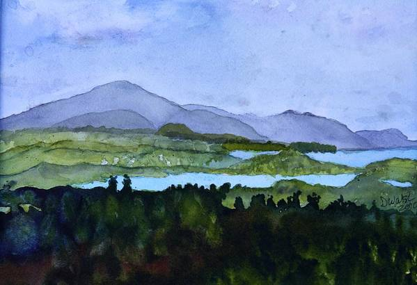 Newport Vt Art Print featuring the painting Newport From Brownington Lookout by Donna Walsh