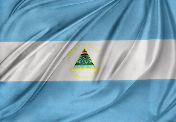 Banner Art Print featuring the photograph Nicaraguan Flag by Les Cunliffe