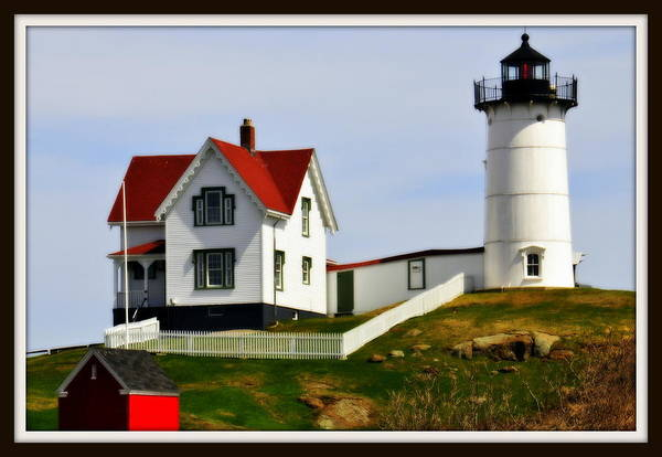New England Art Print featuring the photograph Nubble Lighthouse by Caroline Stella