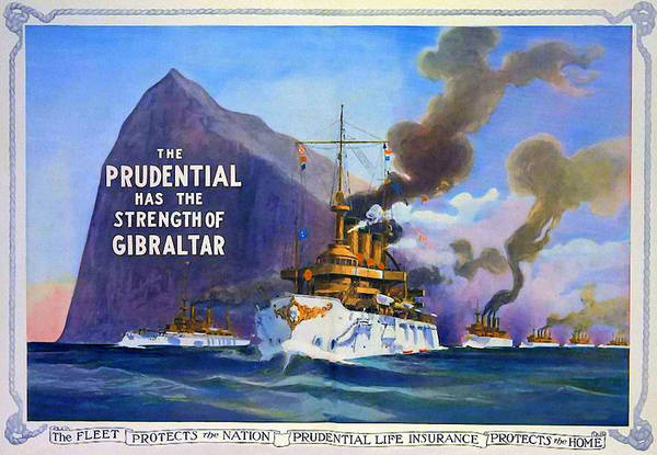 Prudential Art Print featuring the mixed media Prudential Life Insurance Poster by Charlie Ross