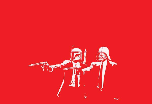 Star Wars Print featuring the digital art Pulp Wars by Patrick Charbonneau