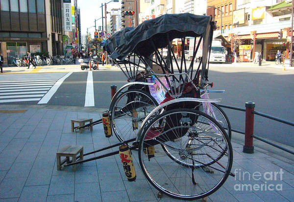 Tokyo Art Print featuring the photograph Rickshaw In Tokyo by To-Tam Gerwe