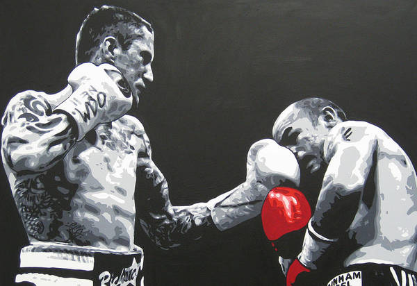 Ricky Burns Art Print featuring the painting Ricky Burns 4 by Geo Thomson